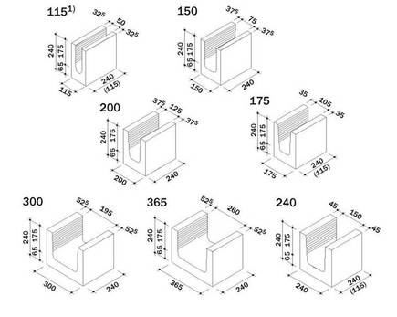 ks u schalen kalksandsteine. Black Bedroom Furniture Sets. Home Design Ideas